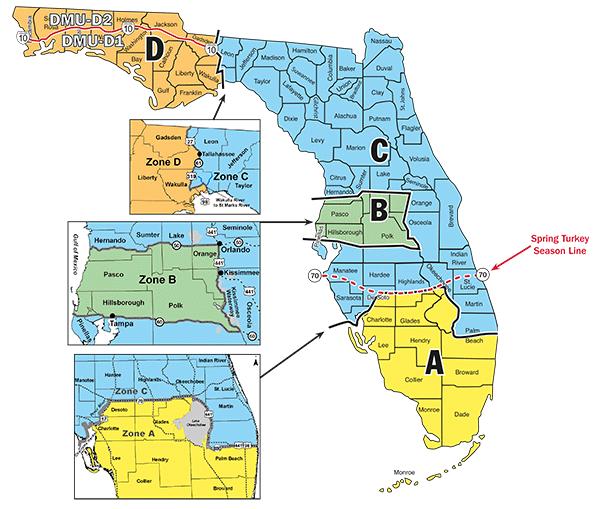 Hunt Zones Map Hunting In Florida Deer Hog And Turkey Pinterest