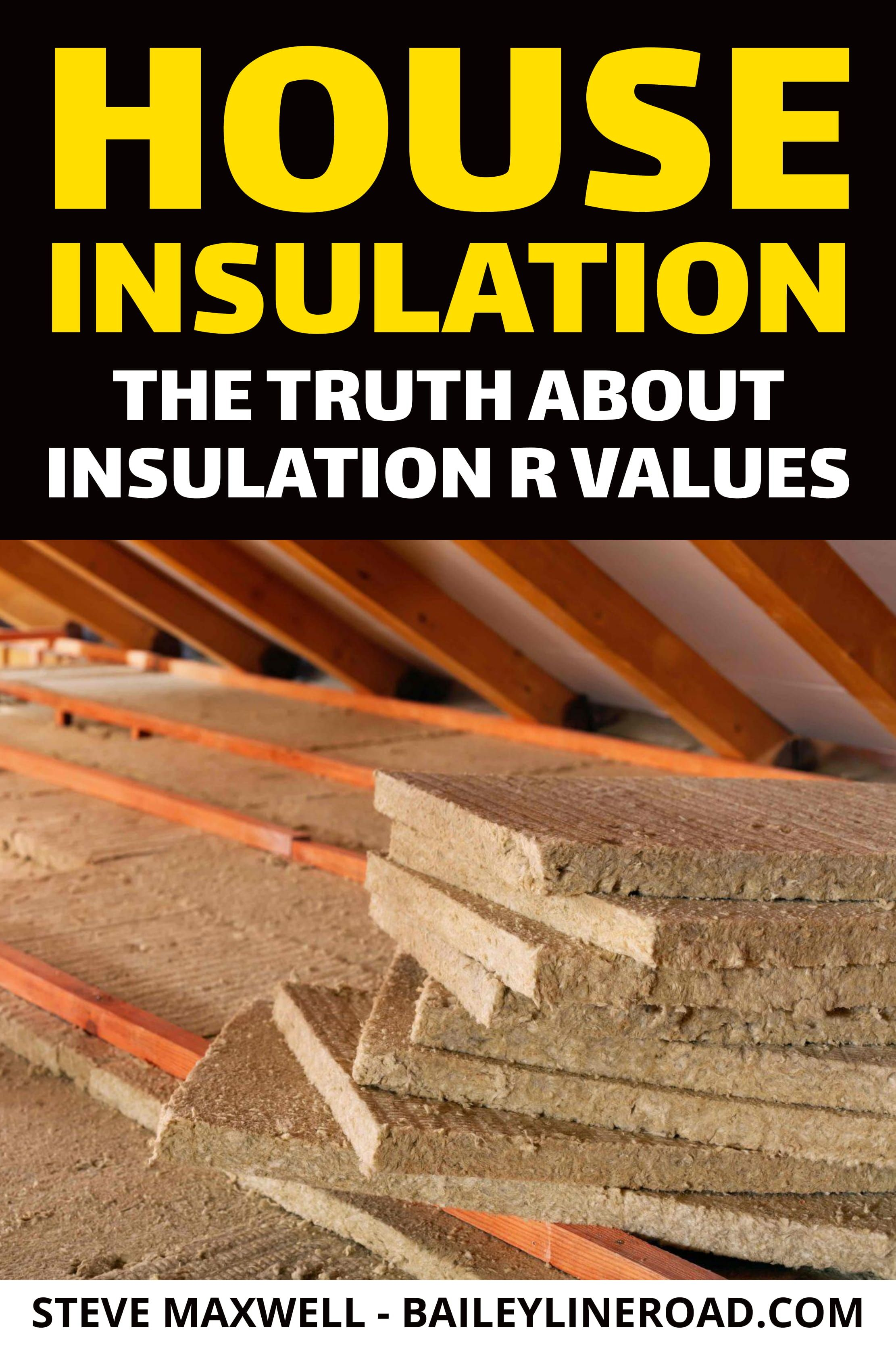 House insulation the truth about insulation r values