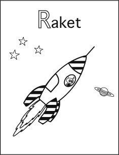 Alfabet Kleurplaat R Van Raket Kleurplaten Colorings Coloriages
