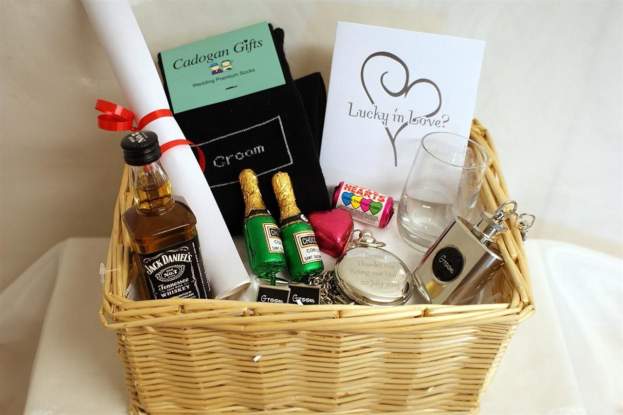 Groom gift basket gifts for wedding party groom gift