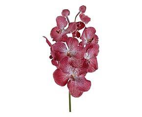 Stelo di Orchidea Vanda Flavia artificiale in poliestere rosa - h 63 cm