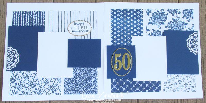 50e anniversaire de mariage album layout