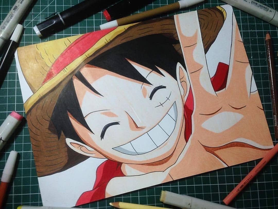 Desenho de Anime Luffy  Agora você pode desenhar assim também apenas usando um método simp Desenho de Anime Luffy  Agora você pode desenhar assi...