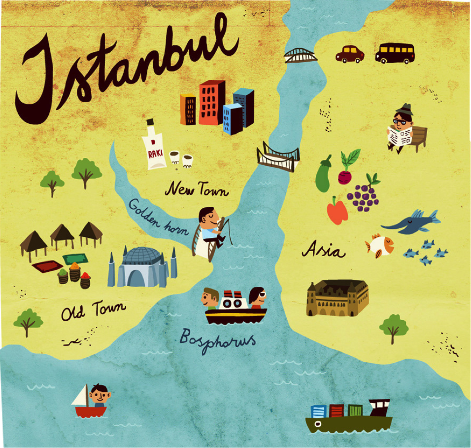 Illustrated Istanbul guide to IStanbul what to do Europe – Travel Map Of Europe