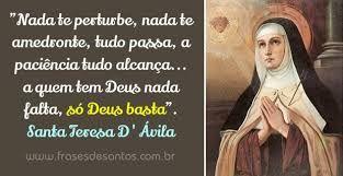 Resultado De Imagem Para Santa Tereza Davila Mensagens God