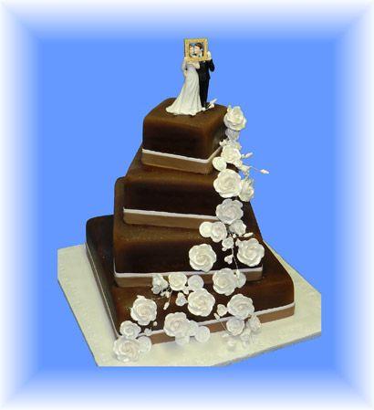 Gateau de mariage chocolat vanille