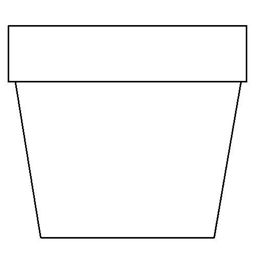 image relating to Flower Pot Template Printable named flower pot template printable Flower Pot Coloring Website page