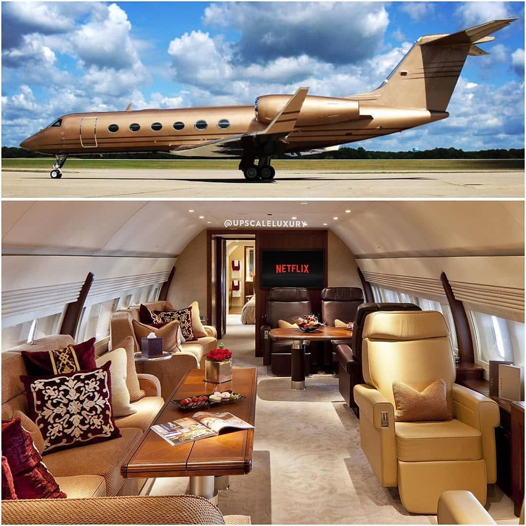 Billionaire Private Jet Bedroom