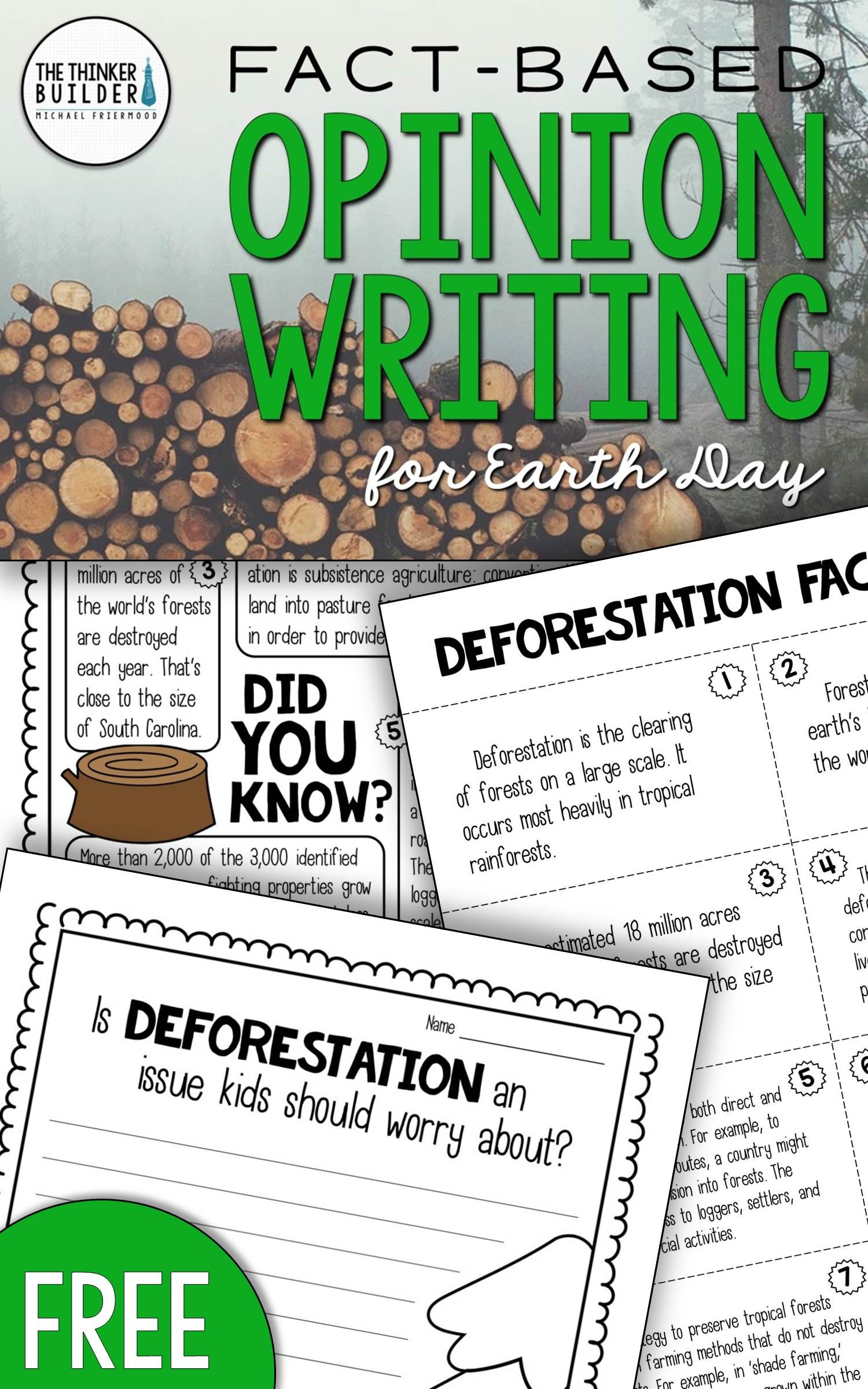Fact Based Opinion Writing For Earth Day Question 2