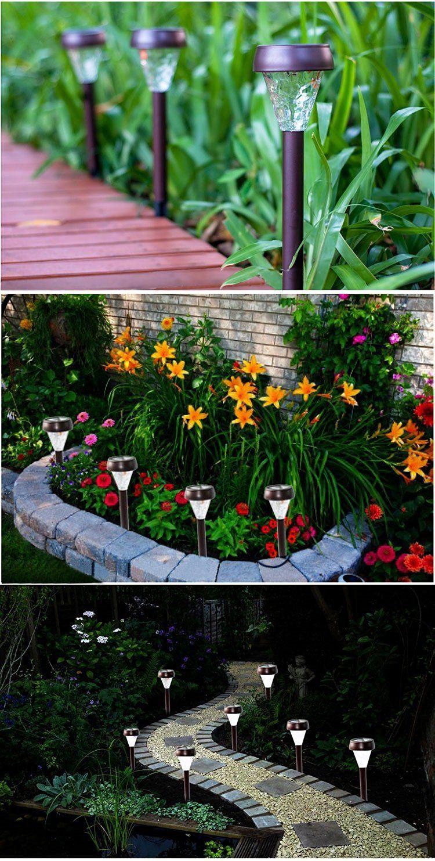 Garden Décor Solar Powered Lights Set of 10 Decorative