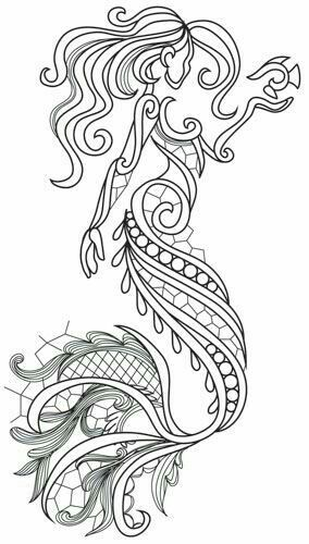 Mermaid Abstract | sirenas | Pinterest | Mandalas, Dibujos y Bordado