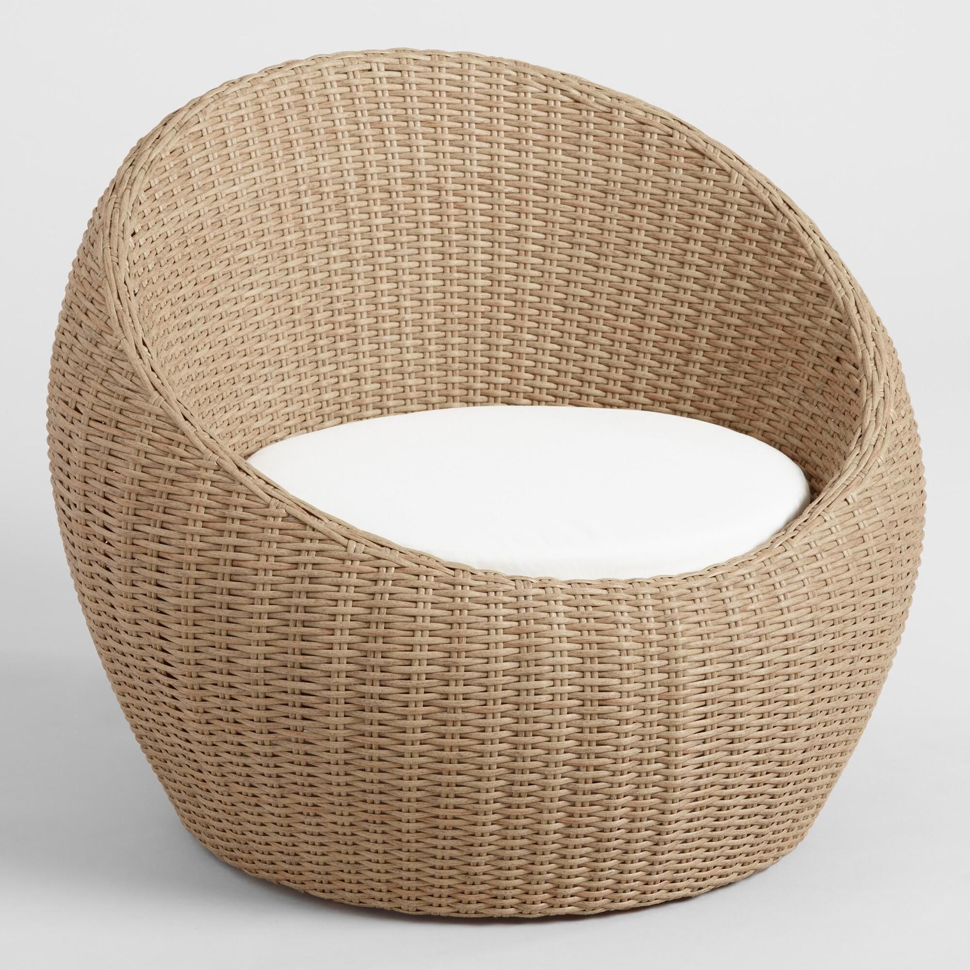 Marvelous All Weather Wicker Vilamoura Outdoor Patio Occasional Egg Andrewgaddart Wooden Chair Designs For Living Room Andrewgaddartcom