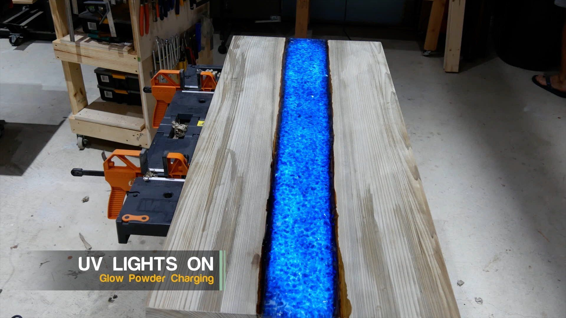 Epoxy Resin River Table Glowpowder 20171016 71 Resin Countertops