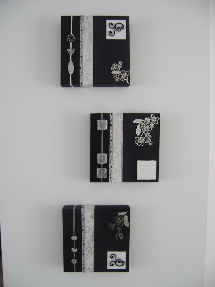 tableau home déco noir et blanc