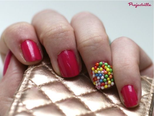 Sweet Sprinkle Nails.  A little strange but has potential.