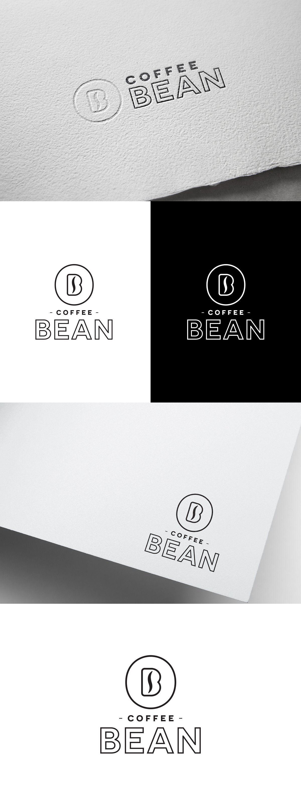Coffee Bean Monogram Logo Coffee logo, Coffee branding