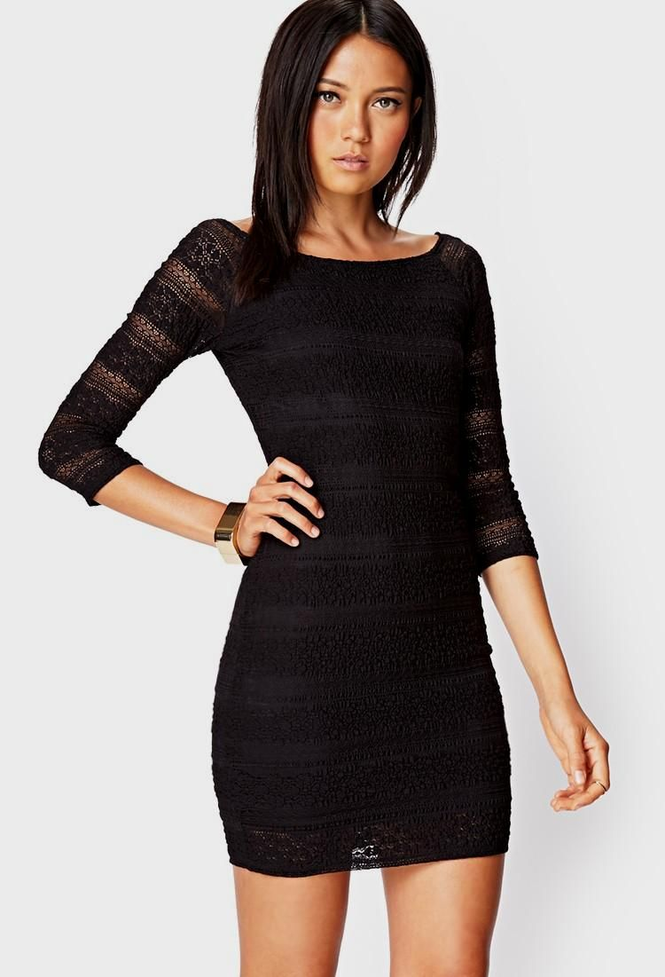 Forever 21 Bold Mesh Skater Dress in Black | Lyst | Cocktail Dresses ...