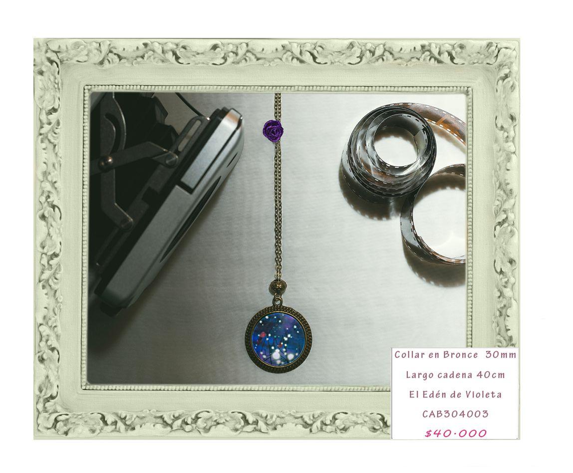 Cadena en bronce 30mm. Las fotos usadas en estas joyas son