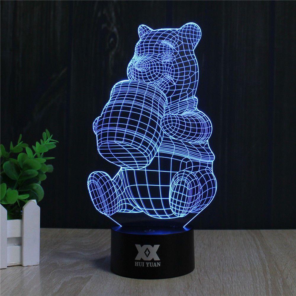 Panda 3d Led Lamp 3d Led Lamp Led Lamp Lamp