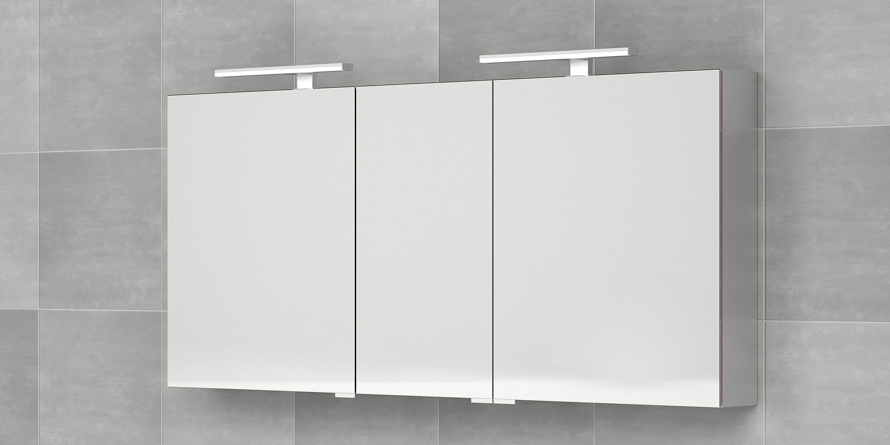 Bruynzeel spiegelkast 160cm drie deurs / badkamerkast / badkamer ...
