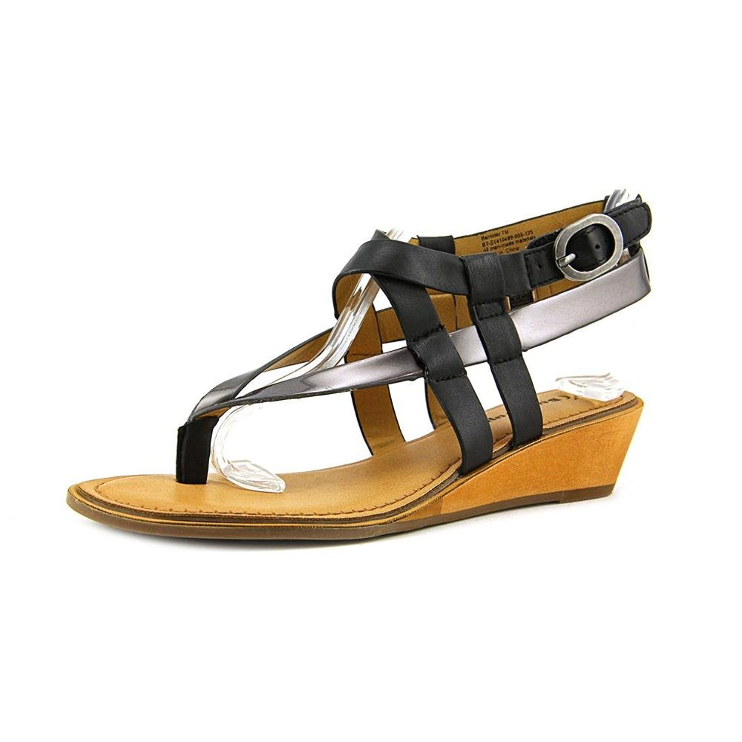 2782650b0026 BareTraps Barrister Women s Sandals Black Pewter Size 8.5 M (BT21784)    Stop everything and read more details here!   Strappy sandals