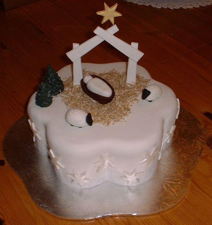 Nativity Christmas Cake Decorating Ideas Christmas Nativity by