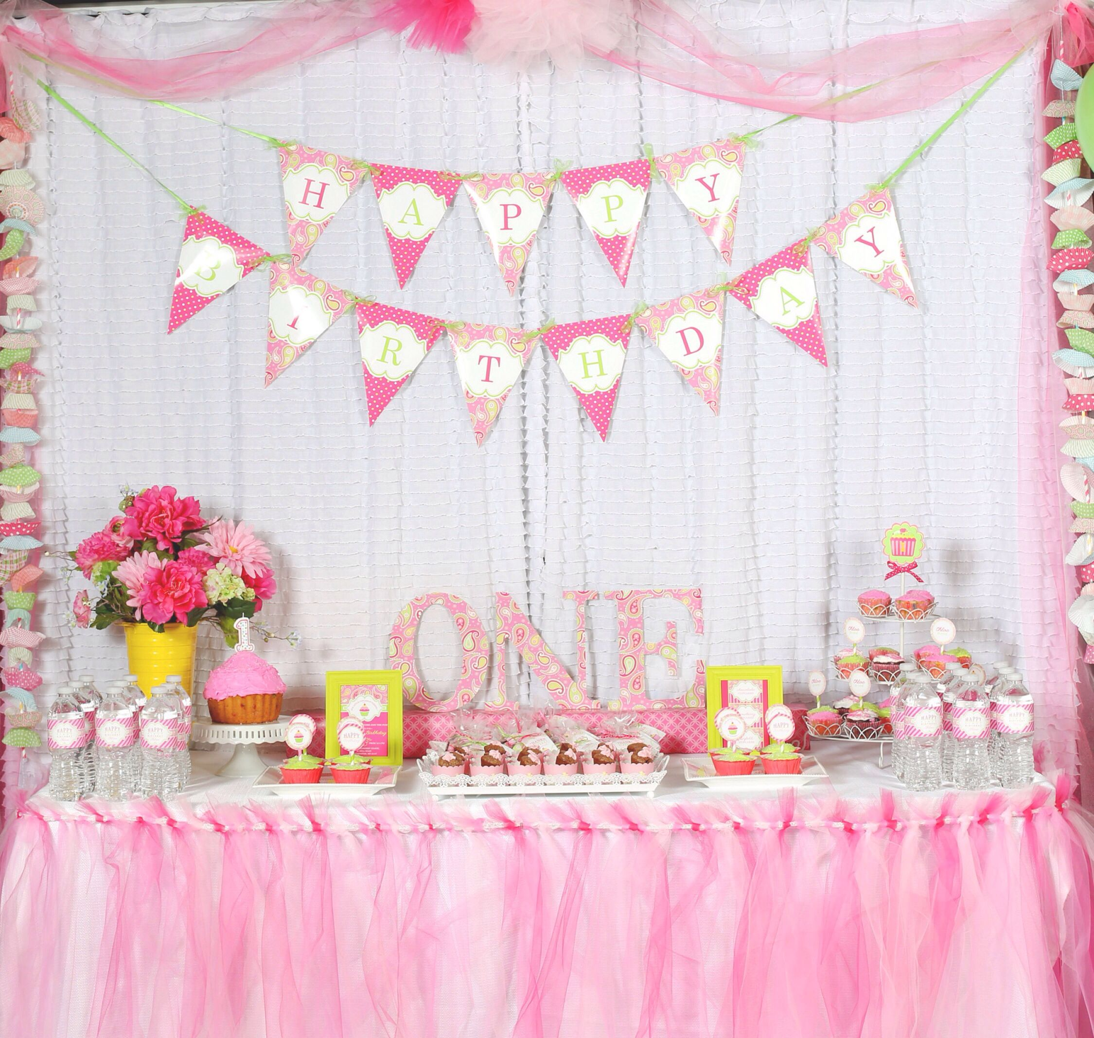 Birthday table decorations for girls - Party Ideas For Girls Birthday Table Setting