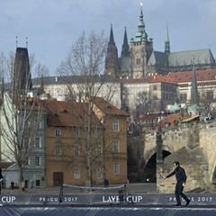 Roger Federer and Tomas Berdych promote Laver Cup in Prague
