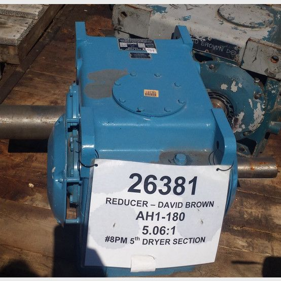David Brown gear reducer supplier worldwide | Used David Brown 5.06:1 ratio gearbox for sale - Savona Equipment