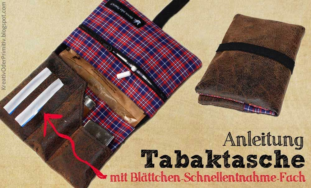 1a40149a86c0d Tabaktasche Nähanleitung selber nähen machen basteln Beutel Tabakbeutel  drehen Utensilien Aufbewahrung Tasche Männer Geschenk Weihnachten Rauchen  Raucher ...