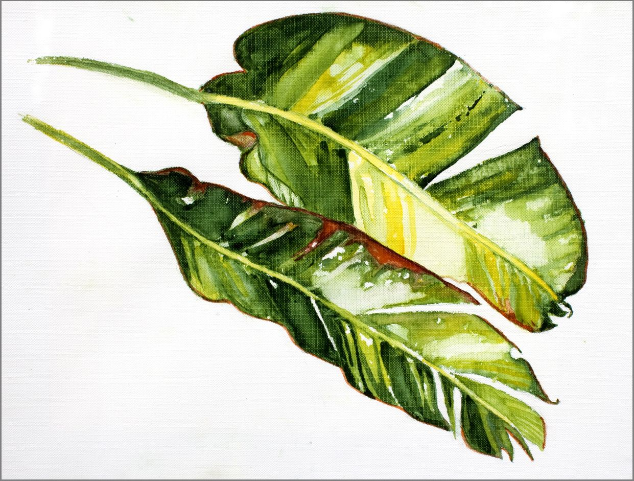 Banana Leaf Painting | Banana Artwork | Pinterest | Banana ...