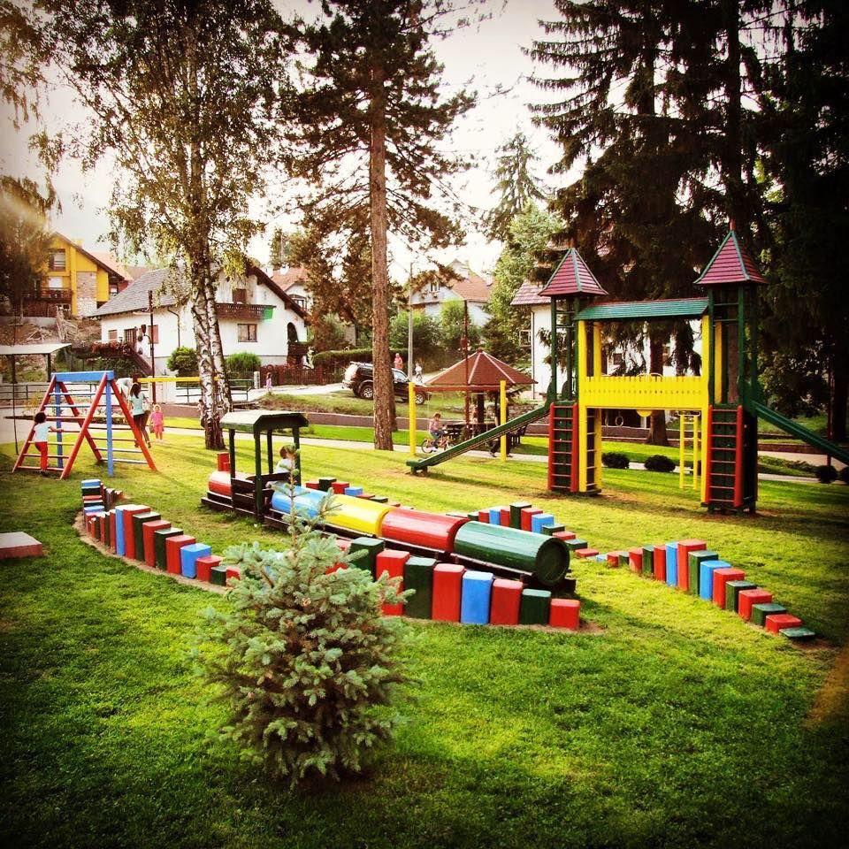 wooden kids playground in kosjeric western serbia wwwgardendesignrs