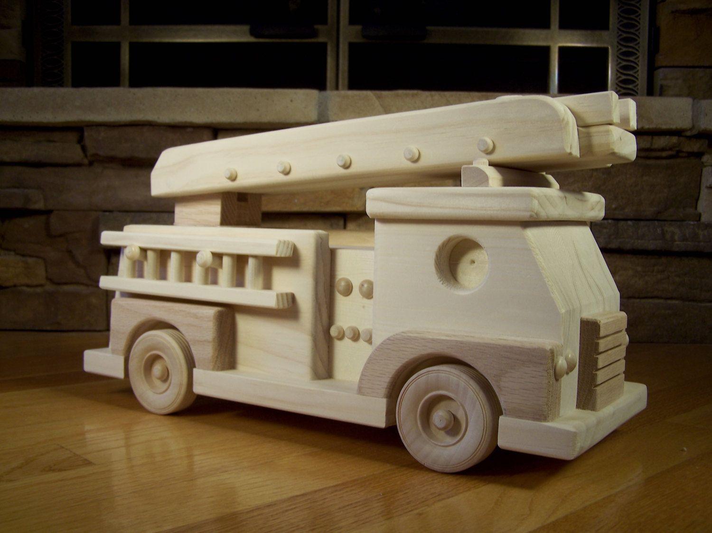 Handmade Wooden Fire Truck Toy Handmade Wooden Toys