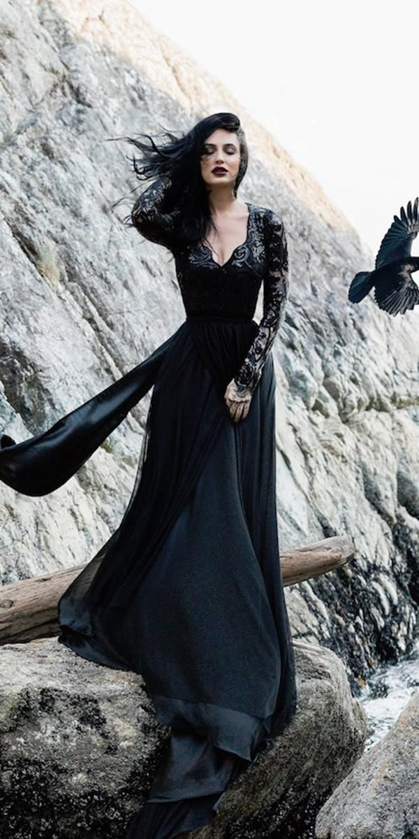 Dark Romance 24 Gothic Wedding Dresses Gothic wedding