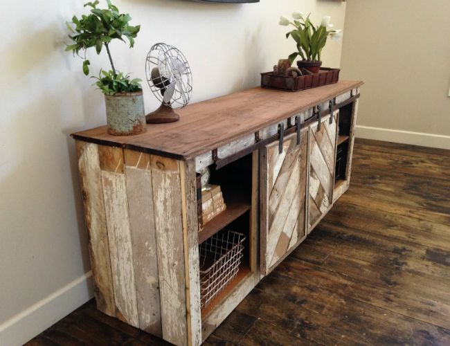 Sliding Doors Conceal Extra Storage In This Doable Design For A Diy Console Table Perfect Small Entryway