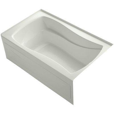 "Kohler Mariposa Alcove 60"" x 36"" Soaking Bathtub Finish:"