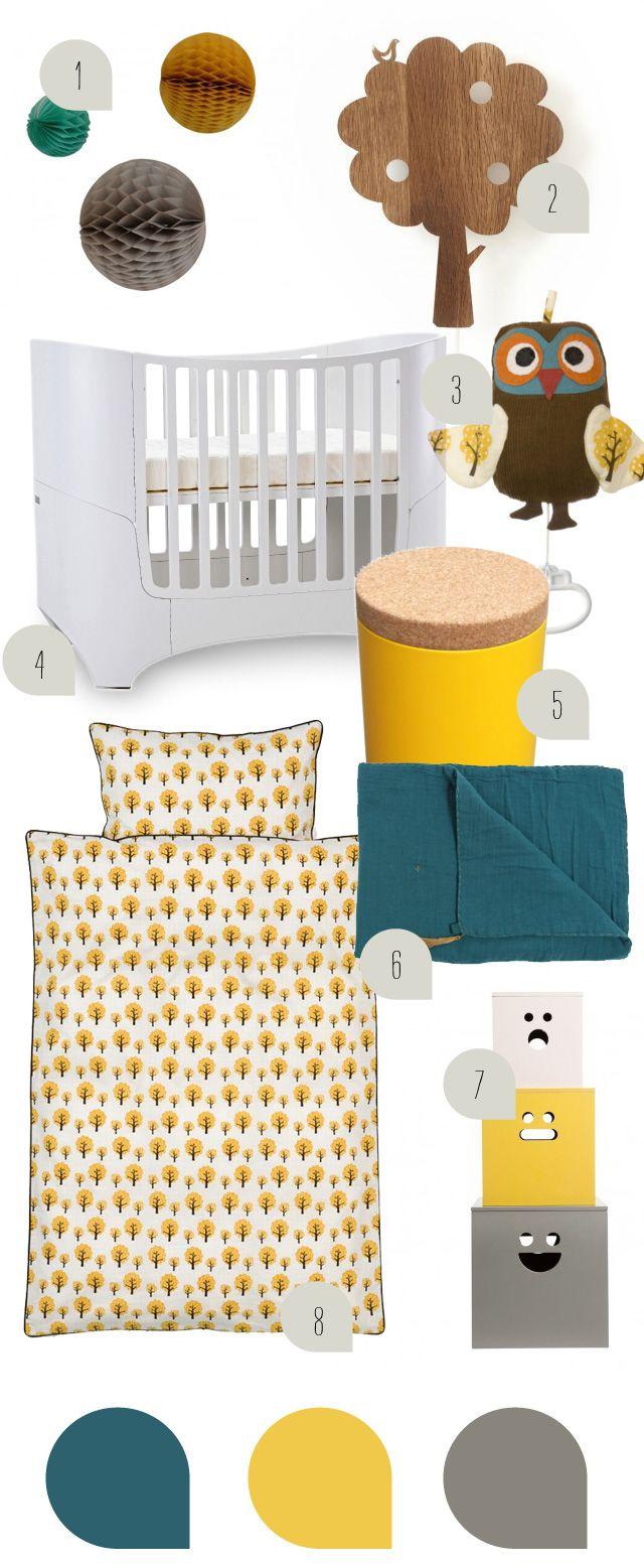Babyzimmer Inspiration In Gelb Petrol Und Grau Kids Rooms