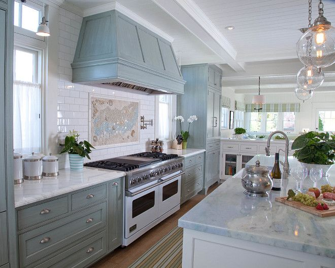 Beach House Kitchen With Counter To Ceiling Subway Tile Backsplash Countertoceilingbacksplash Backsplash K Beach House Kitchens Home Kitchens Kitchen Design