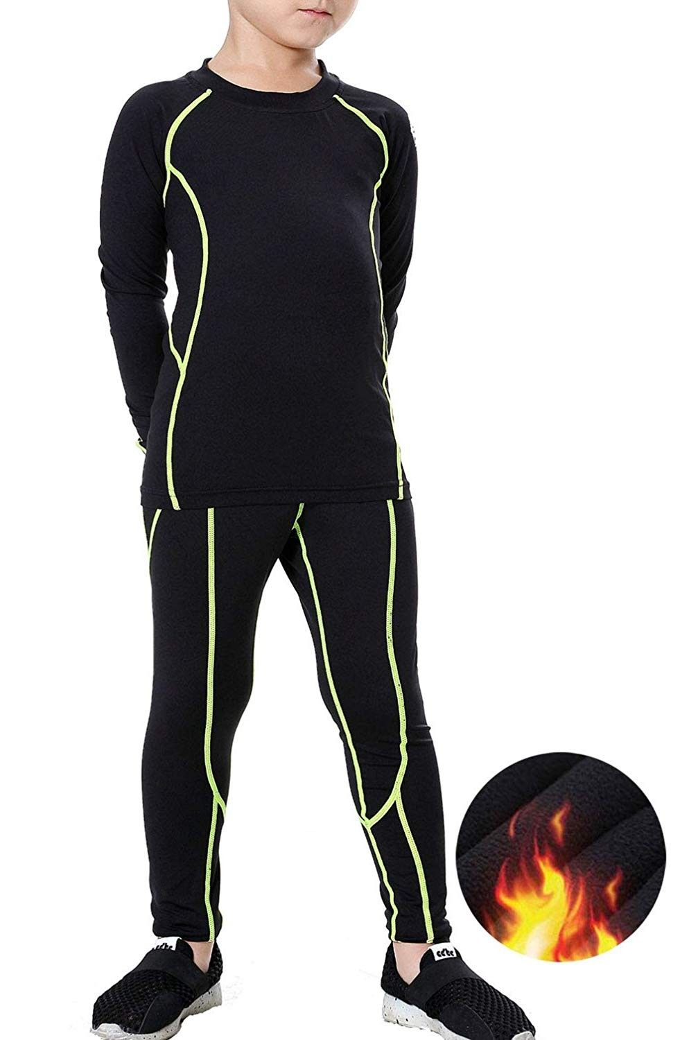 Arctic Hero Boys 2-Piece Thermal Warm Underwear Top and Pant Set