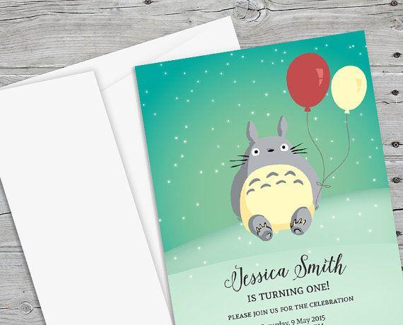 Totoro Birthday Invitation By Paperboundlove Baby Shower