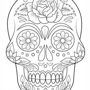 Dibujos De Calaveras Para Colorear Drawing Drawings Doodles Cards