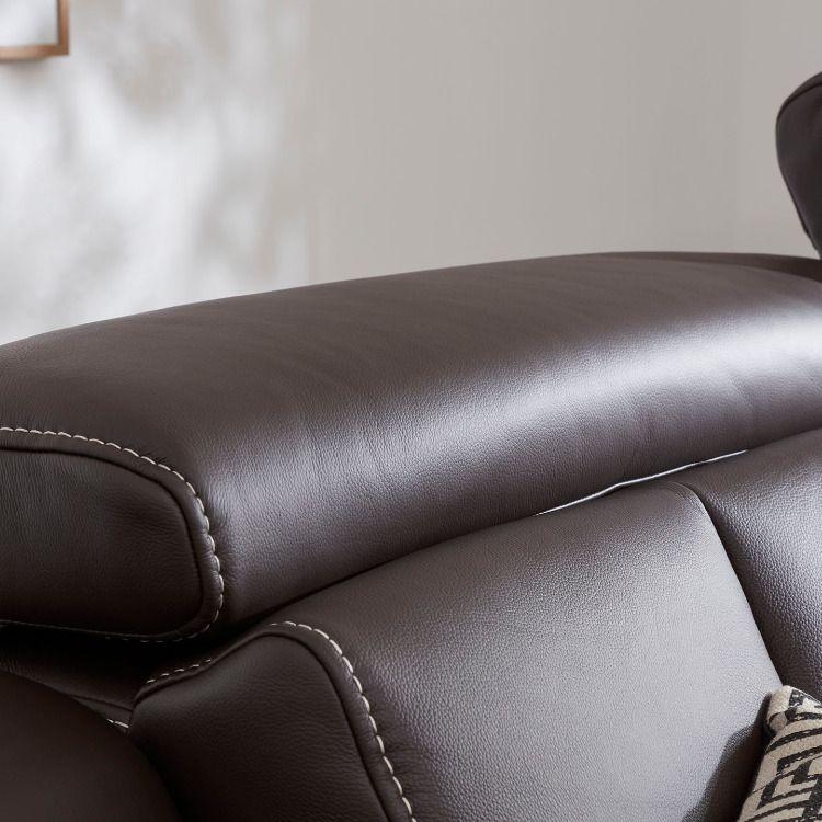 Die Verstellbaren Kopfstutzen Sind Perfekt Zum Relaxen Und Entspannen Relaxsofa Wohnzimmerideen Ecksofa Sofa Sofa Sessel Rundecke