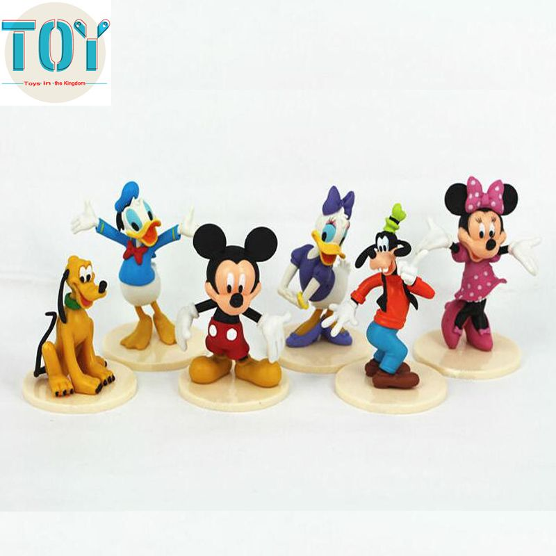Find More Action & Toy Figures Information about New 6pcs Mickey ...