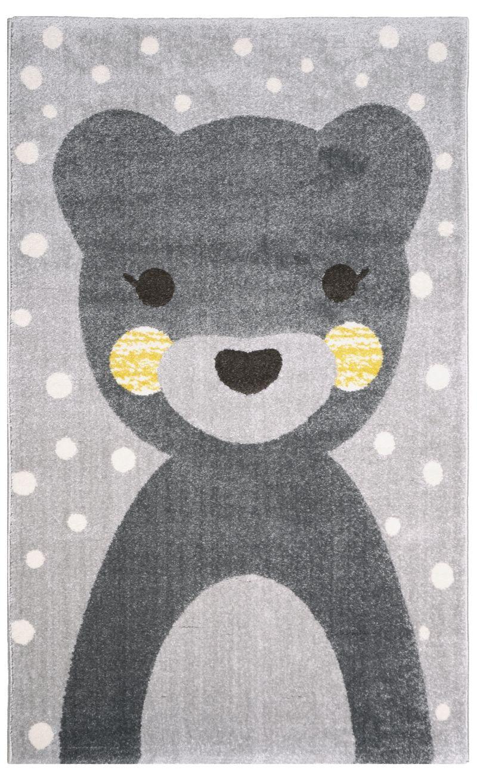 Barenteppich Otto Grau Gelb 100x150cm Baby Kinderzimmer