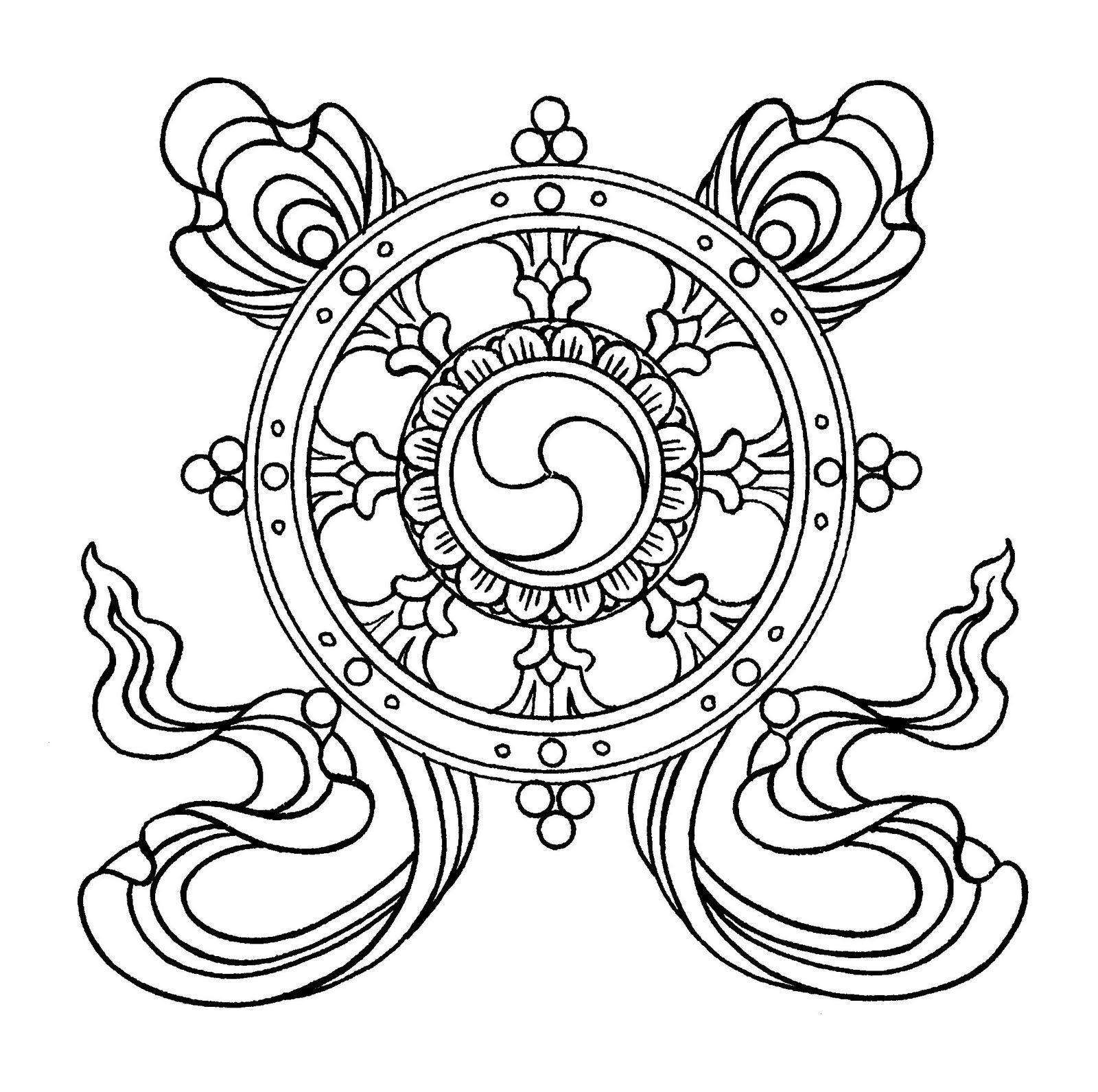La rueda dorada | Bonitas | Pinterest | Mandalas, Colorear y Abstracto