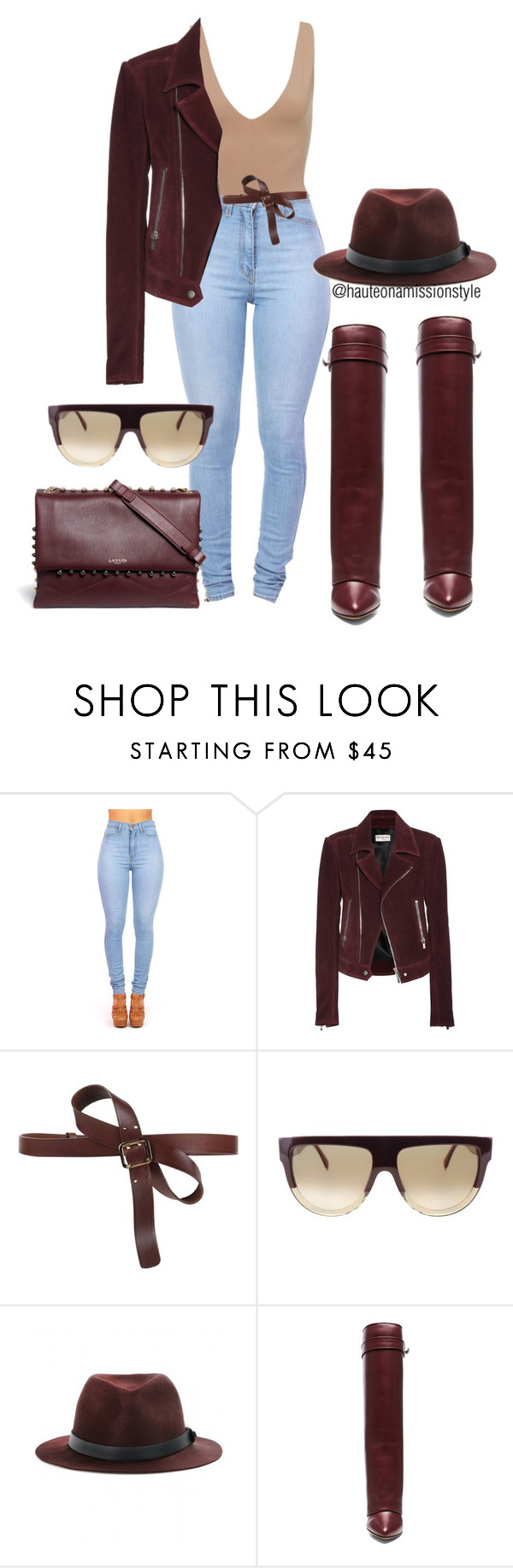 """""""Untitled #218"""" by hauteonamission ❤ liked on Polyvore featuring Balenciaga, Dsquared2, CÉLINE, rag & bone, Givenchy, Lanvin, chic and hauteonamissionstyle"""