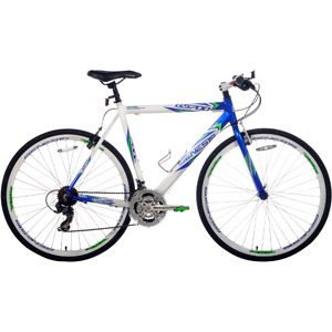 700c Genesis Gs 700 Men S Flat Bar Road Bike 22 5 Blue White Flat Bar Road Bike Road Bike Bike