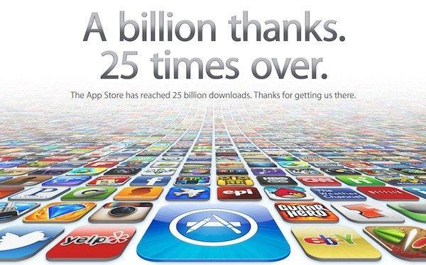 Apple crosses 25 billion App Store downloads, thanks all
