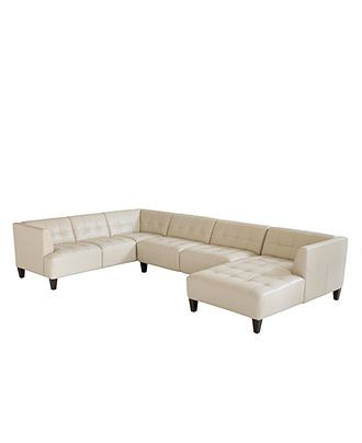 Phenomenal Alessia Leather Sectional Sofa 3 Piece 139W X 89D X 28H Machost Co Dining Chair Design Ideas Machostcouk