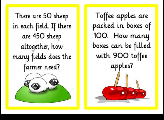Division-Problem Solving - Treetop Displays - A set of 18 A5 ...
